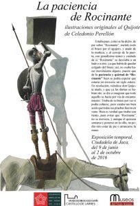 """Cartel exposición """"La paciencia de Rocinante"""" del dibujante Celedonio Perellón"""