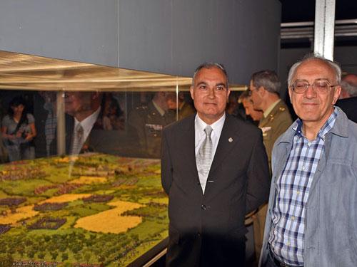 Emotiva inauguración de la gran maqueta de Waterloo en la Ciudadela de Jaca