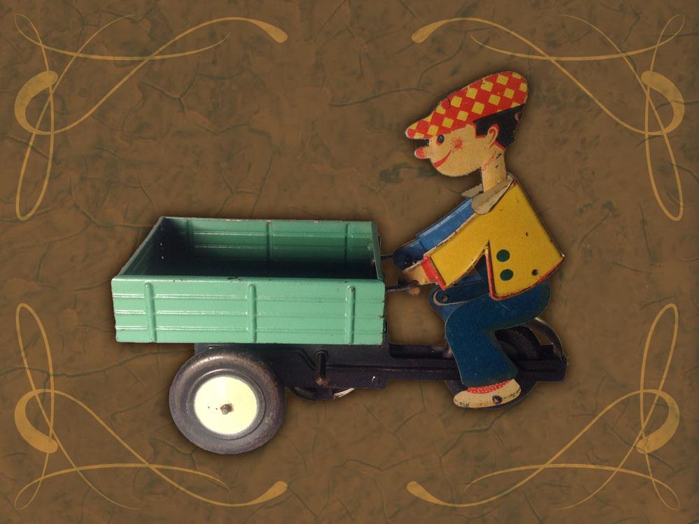 Exposición juguetes antiguos: carrito