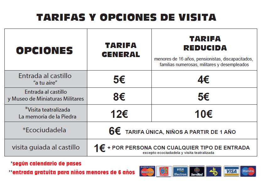 Nuevas tarifas-Ciudadela de Jaca